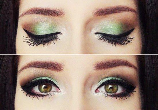 绿色精灵眼妆 教你摄人心魄
